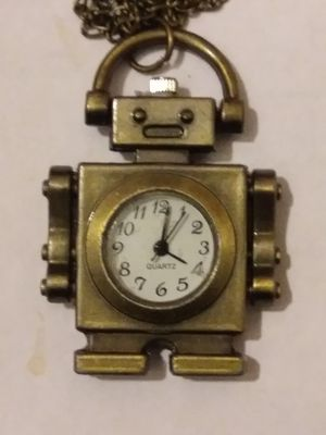 Brand new bronze robot pocket watch nice gift that will last forever very fine. for Sale in Smyrna, TN