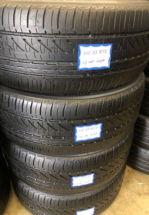 🦚SET OF 4 USED TIRES🦚 215/55/17 BRIDGESTONE •INSTALL/BALANCE INCLUDED• for Sale in Bellflower, CA