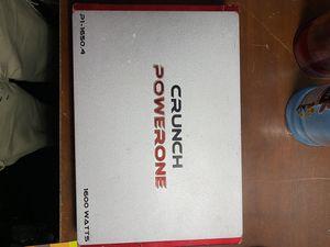 """CRUNCH """"power one"""" 1600watt amplifier for Sale in Las Vegas, NV"""