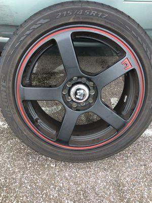17inch MR116 / MATTE BLACK W/RED STRIPE MR116 Wheels by Motegi for Sale in Clearwater, FL