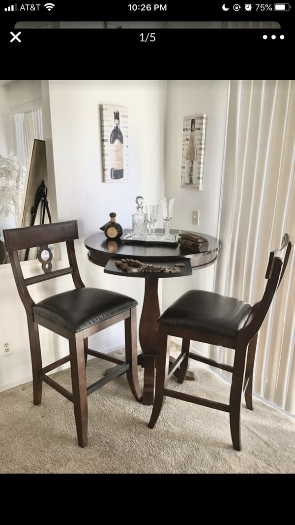 Bar Table and (2) Large Chairs