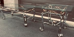 Set 2 metal glass coffee/side tables for Sale in Chandler, AZ