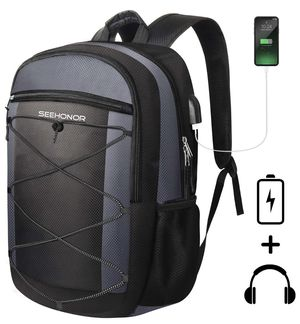 Travel Laptop Backpack with USB Charging Port, 15.6 Inch Slim Business Computer Backpack for Men Women Water Resistant Anti Theft College Bookbag Sch for Sale in Piscataway, NJ