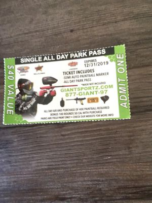 Paintball Passes for Sale in Riverside, CA