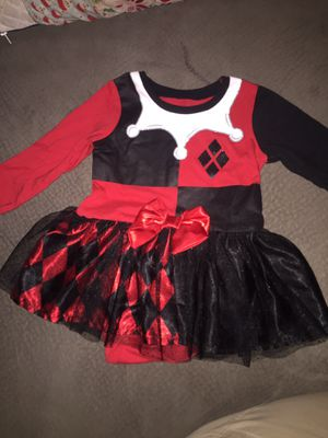 Harley Quinn 6/9 months onesie with tutu for Sale in Clearwater, FL