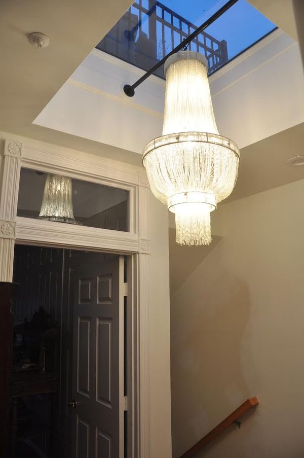 French Art Deco/Gatsby style chandelier.