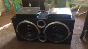"""12"""" subwoofers and amplifier for Sale in Durham, NC"""