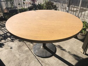 """52"""" round table with metal base for Sale in San Jose, CA"""