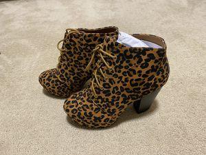 Leopard print high heel boots for Sale in Bellflower, CA