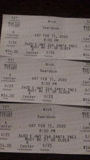 Nick Swardson tickets! for Sale in Santa Maria, CA