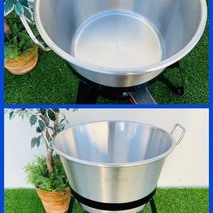"STAINLESS STEEL 21"" CAZO SET LOW PRESSURE BURNER STAND CAZO PARA CARNITAS DEEP FRYING NEW for Sale in Huntington Beach, CA"