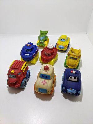 (8) Assorted Hasbro Wendy's Kids Meal Plastic Vinyl Car Boat BR13 for Sale in Webster, MN