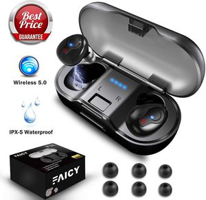 Wireless Earbuds, Faicy True Wireless 5.0 Deep Bass Mini in-Ear Headset HD Stereo IPX5 Headphones with Built-in Mic, 24Hr Play Time with 480mAH Batte for Sale in Philadelphia, PA