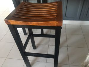 Black & Elm Wooden Bar Stools (Pair) for Sale in Washington, DC