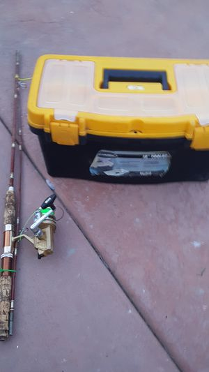 Fishing pole with tackle box for Sale in Stockton, CA