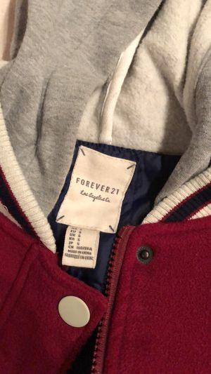 Burgundy hoodie jacket for Sale in Santa Clarita, CA