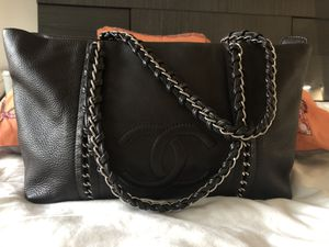 Authentic Chanel Luxury Line Black Lambskin Leather Shoulder Bag for Sale in Beaverton, OR