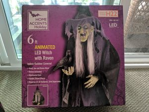 6ft LED Witch with Raven for Sale in Orange, CA