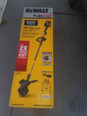 Dewalt Flex Volt Brushless 15 inches string trimmer brand new in box all included for Sale in Winter Springs, FL