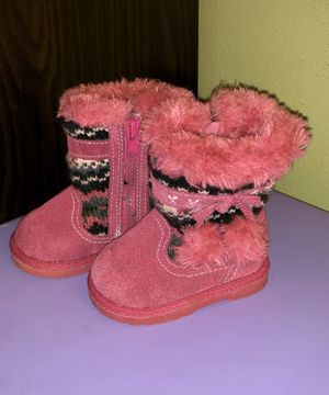 BABY GIRL SIZE 3 WINTER BOOTS PINK for Sale in Austin, TX