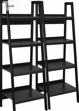Ameriwood Home Lawrence 4 Shelf Ladder Bookcase Bundle, Black for Sale in New York, NY