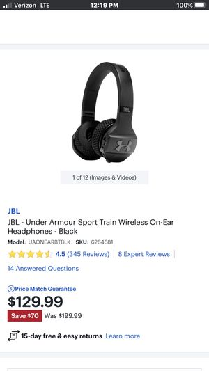 JBL UNDER ARMOUR TRAIN HEADPHONES BRAND NEW WITHOUT BOX for Sale in Imperial, MO