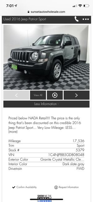 2016 Jeep Patriot Sport for Sale in Tacoma, WA