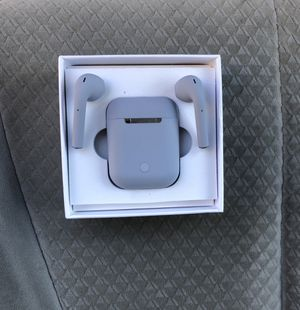 Bluetooth Earpods APPLE AirPods IPHONE 6 7 8 X XR XS 11 MAX PRO Plus Android Gray for Sale in Amarillo, TX