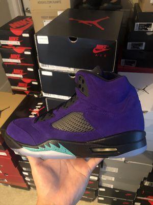 Nike air Jordan 5 grape size 8.5 10.5 9.5 10 11 13 for Sale in Mercer Island, WA