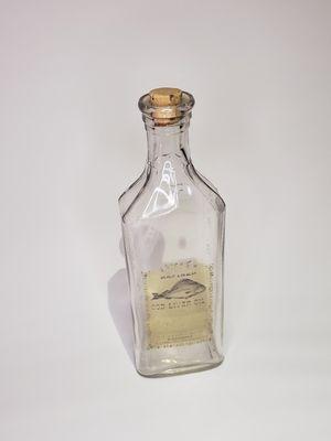 Antique blue ribbon medecine glass bottle for Sale in Colton, CA