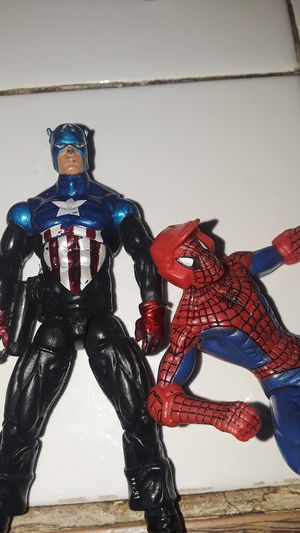 Marvel Captain America and Spiderman figures for Sale in Lakewood, CA