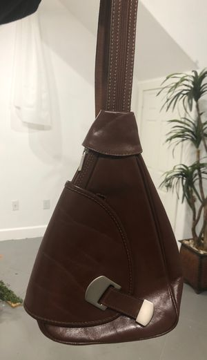 Brown Leather Handmade Convertible Backpack for Sale in Houston, TX
