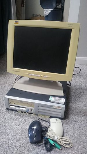 Compaq Evo Computer with Viewsonic 15' Monitor for Sale in Herndon, VA
