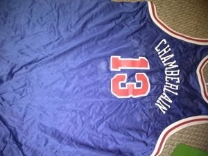 Throwback Vtg Rare Mint Gold Label Wilt Chamberlain Sixers Champion NBA Jersey for Sale in Pittsburgh, PA