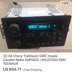 02-04 Chevy Trailblazer GMC Impala Cavalier Radio AMFMCD UNLOCKED OEM 10318434 for Sale in Marysville, WA