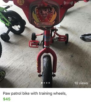 Paw patrol bike with helmet for Sale in Alexandria, LA
