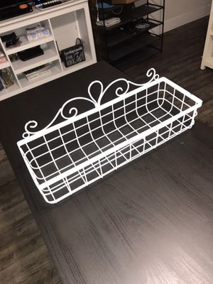 Baskets white wire for Sale in Long Beach, CA