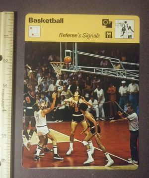 1977 Sportscaster 25 Referees' Signals Sport Photo Large Oversized Basketball Card HTF Collectible Vintage Japan for Sale in Salem, OH