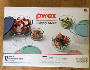 New 12 piece Pyrex simply store glass with lids for Sale in Riverview, FL