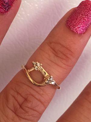 14k oro italiano verdadero con diamantes de primera calidad medida 6💎💯👌🎁🥰 for Sale in Los Angeles, CA