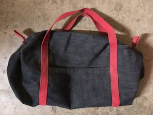 Small Duffle Bag Gym Mini Travel Overnight Bag Black Red Handles Side Pocket for Sale in Rocklin, CA