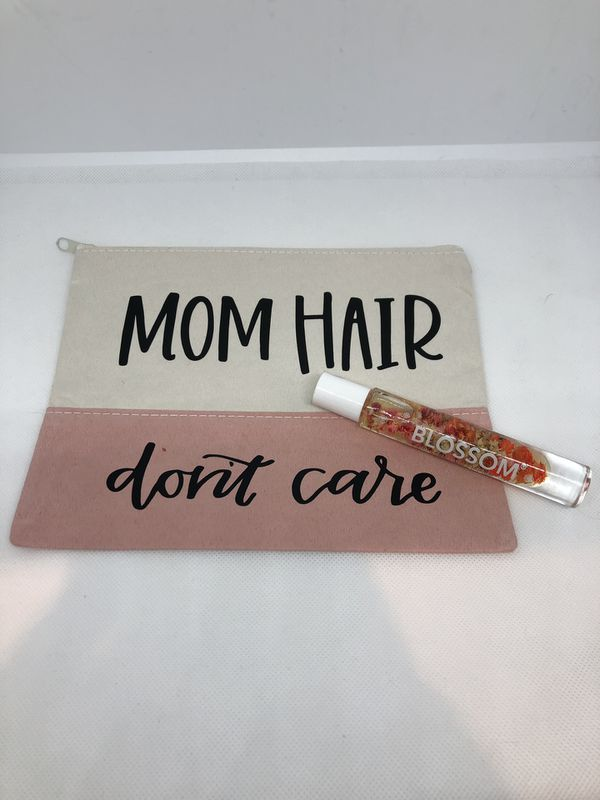 Makeup Pouch With Roll On Perfume Mom