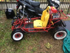Go cart 110 motor on it with reverse all the go cart needs is battery it's fast for Sale in Washington, DC
