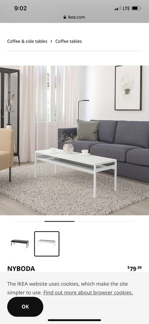 White Coffee Table from IKEA for Sale in Pensacola, FL