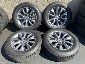 "(4) 20"" Chevy Silverado Wheels 275/60R20 General Grabber Tires - $1175 for Sale in Santa Ana, CA"