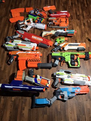 Lot of 16 nerf guns for Sale in Brielle, NJ