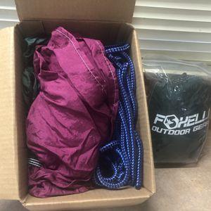 Two Foxelli Nylon Hammock (new) for Sale in Sedro-Woolley, WA