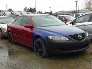 """04 mazda 6 complete parts car. ,needs engine harness to run will sell or trade for car audio or 5x114.3 wheels 24"""" and up for Sale in Burlington, WA"""
