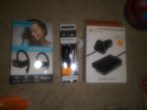 Extreme Bass headphones & Front and back charger &car charger for Sale in San Antonio, TX