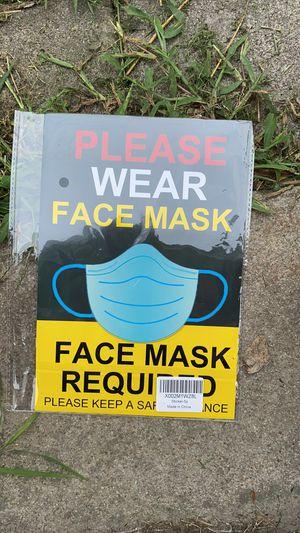 Face mask sign for Sale in Nashville, TN